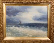 Ivan Aivazovsky: Ship At Sea