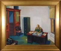Follower of Edward Hopper: Office At Night