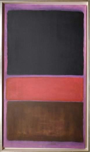 Mark Rothko: Color Field ( Purple, Black, Brown, Red)