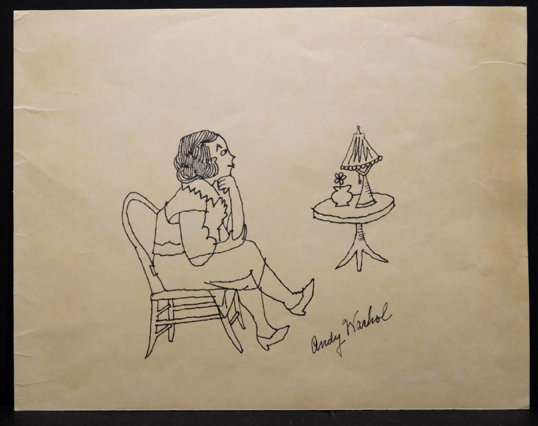 Andy Warhol:  Portrait of a Seated Woman - 2