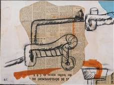 Le Corbusier: Pipes on Newspaper Clippings