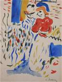 Andre Derain: Watercolor with Figures