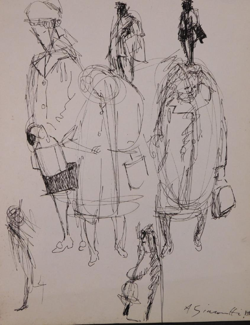 Alberto Giacometti: Portrait of Women & Two Men (verso)