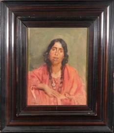 Joseph Henry Sharp: Portrait of a Native American Woman