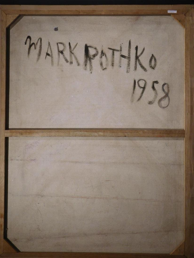 Mark Rothko: 1958 Color Field Painting - 9