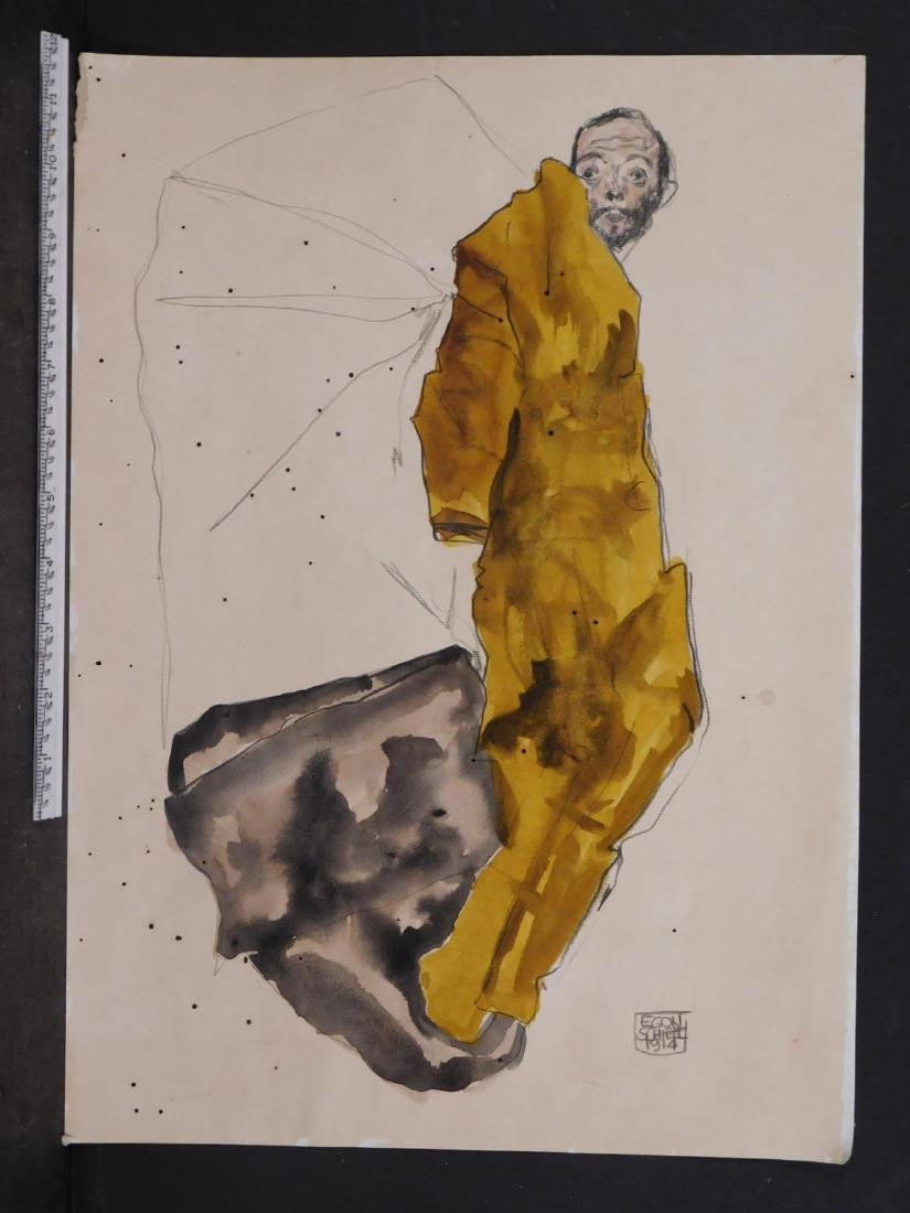 Manner of Egon Schiele: Portrait of a Man