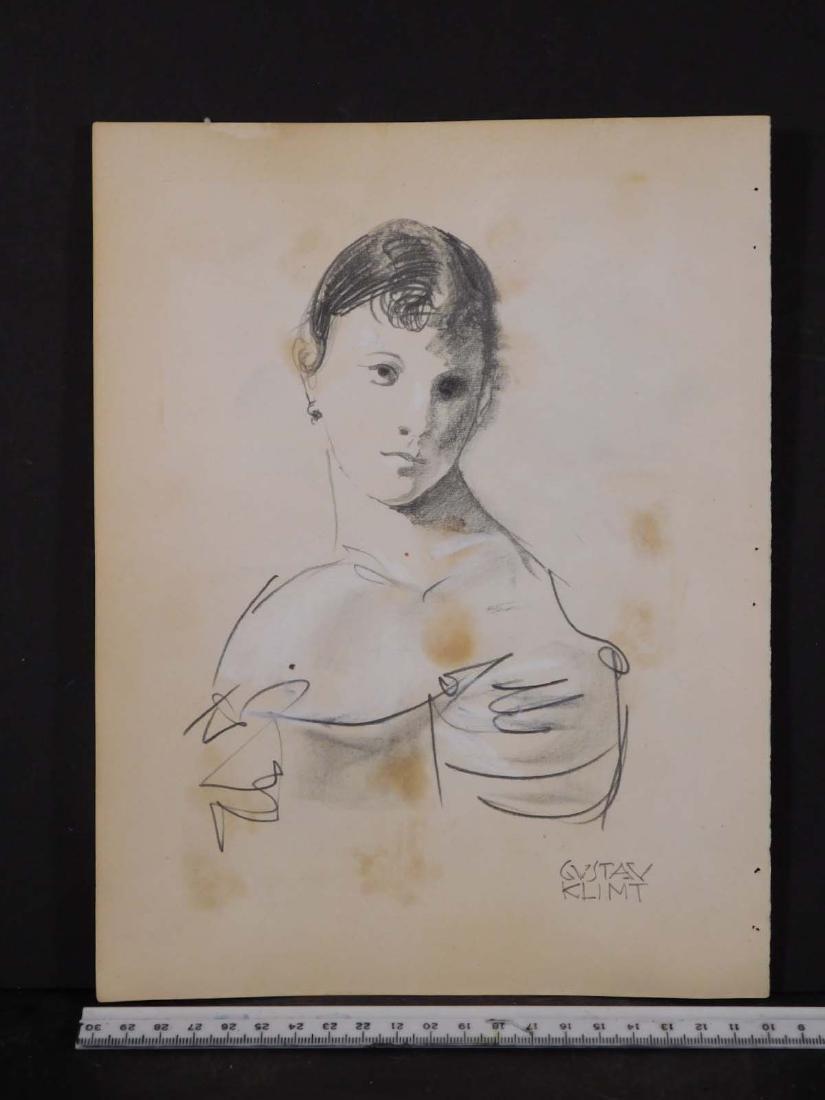 Gustav Klimt: Sketch of a Woman - 3