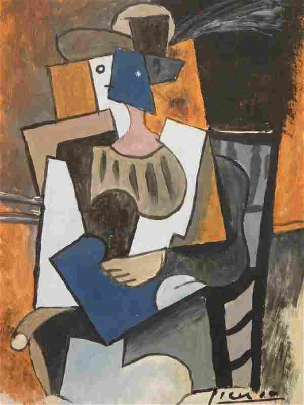 After Pablo Picasso: Cubist Portrait
