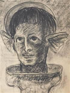 After Odilon Redon Surreal Portrait