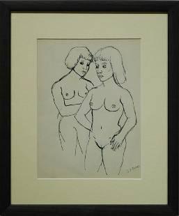 GJ Rogers Two Nude Women