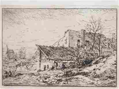 1846 Farmhouse Etching
