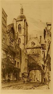 H Toussaint Rouen France 1880 Engraving