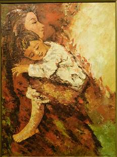 Unidentified Artist Mother and Child