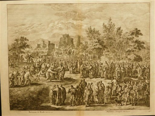 Covens en Mortier after Johannes Luyken: Bartimaeus the