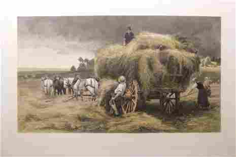 After Julien Dupre The Hay Wagon