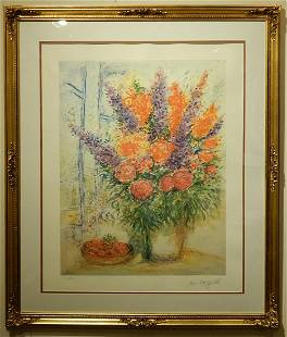 After Marc Chagall Still Life with Chrysanthemums and