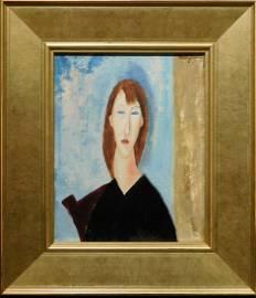 Amedeo Modigliani: Portrait Study of a Woman