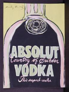 Andy Warhol Absolut Vodka Green and Black