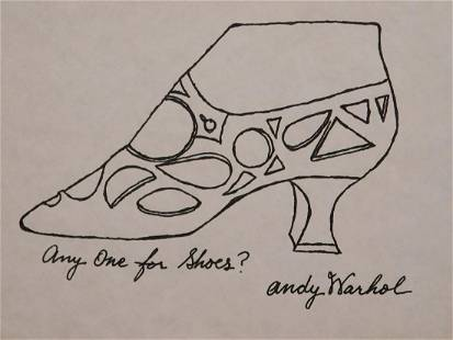 Andy Warhol Any One for Shoes