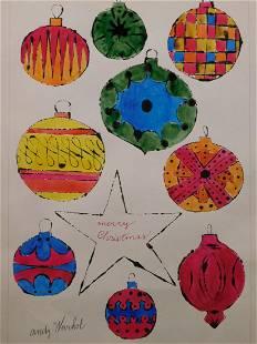 Andy Warhol Christmas Ornaments