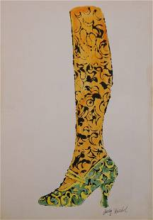 Andy Warhol Shoe With Leg