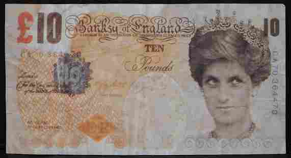 Banksy DiFaced Tenner Ten Pound Note