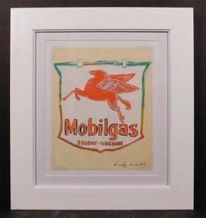 Andy Warhol Mobil gas Logo