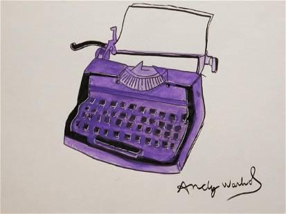 Andy Warhol Purple Typewriter
