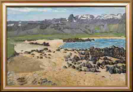 Thordur Stefansson Volcanic Rocks on the Beach