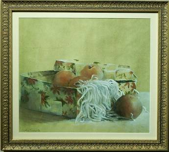 Cynthia Townsend Box of Pears Still Life