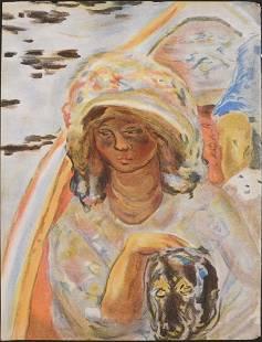 After Pierre Bonnard Jeune Fille dans une Barque