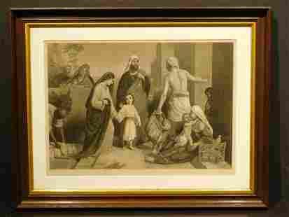 JAJ Wilcox After WCT Dobson Nazareth 1855 Engraving