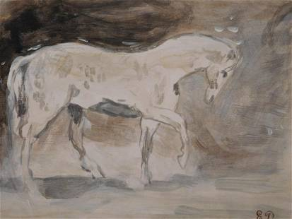 Eugene Delacroix Study for a Horse