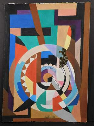 Auguste Herbin: Abstract Composition