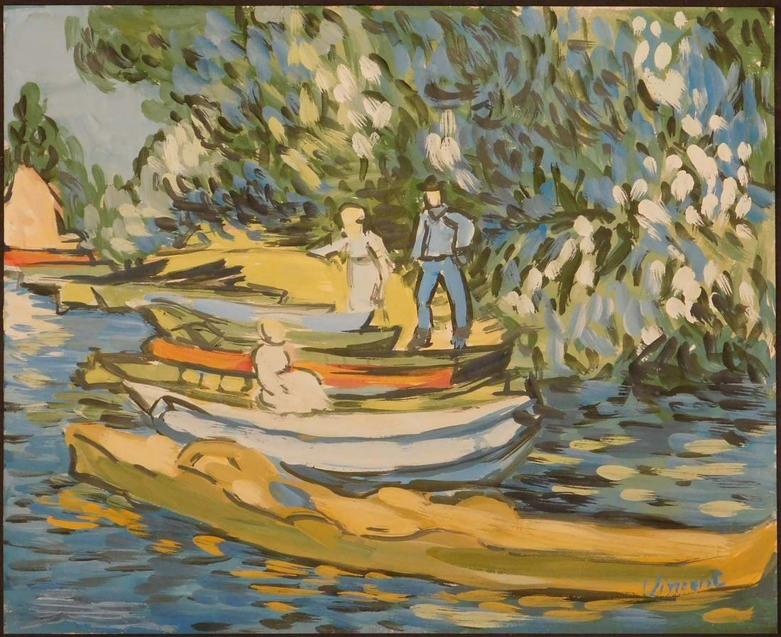 Manner of Vincent van Gogh: Riverside Study