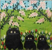 Maud Lewis: Three Black Cats