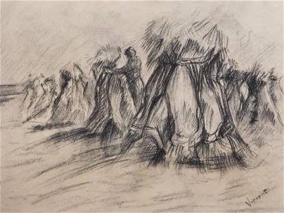 Vincent van Gogh Haystacks