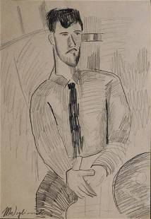 Amedeo Modigliani Portrait of a Man with Hands Folded