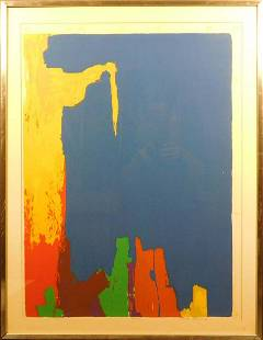 Jack Larned Abstract Screenprint in Blue
