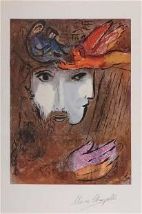 After Marc Chagall David and Bathsheba