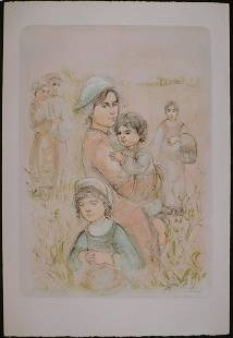 Edna Hibel Katrina and Children