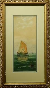 Pastel Fishing Boat c1900