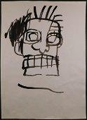 Jean-MichelBasquiat:Ink Sketch