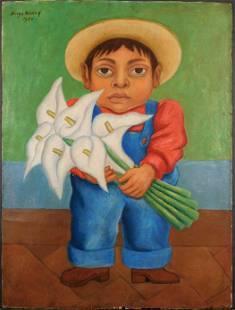 Diego Rivera Nino Con Alcatraces