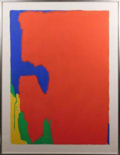 Jack Larned Abstract Screenprint in Red