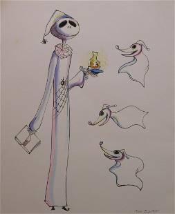 Tim Burton Ghost of Christmas