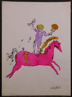 Andy Warhol Cherub on Horseback