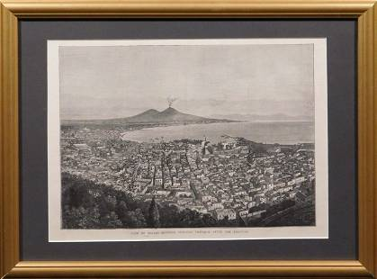 View of Naples Showing Vesuvius Tranquil After The
