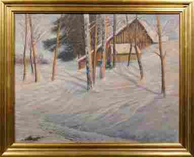 Charles H. Hauser: Dusk Winter Landscape
