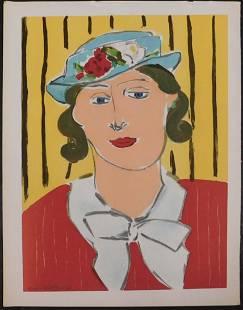After Henri Matisse Femme Au Chapeau